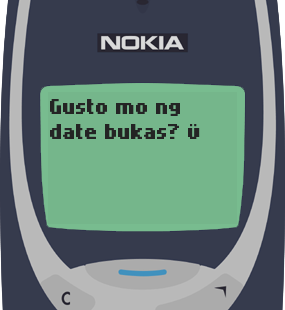 Text Message 2: Gusto mo ng date bukas? in Nokia 3310
