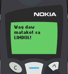 Text Message 11837: Kinikilig ang earth, Valentines na in Nokia 5110