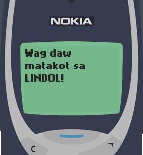 Text Message 11837: Kinikilig ang earth, Valentines na in Nokia 3310