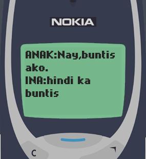 Text Message 4: Nay, buntis ako in Nokia 3310