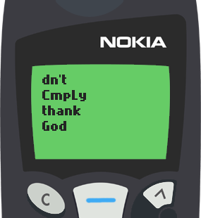 Text Message 12: Be a blessing to someone in Nokia 5110
