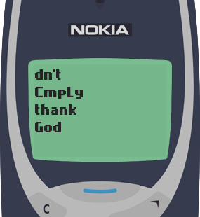 Text Message 12: Be a blessing to someone in Nokia 3310