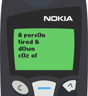 Text Message 17: Why so many hills and mountains to climb in life? in Nokia 5110
