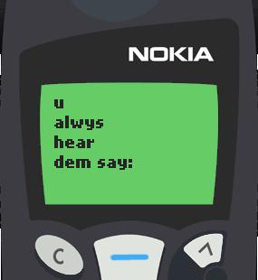 Text Message 21: Maaasahan mo in Nokia 5110
