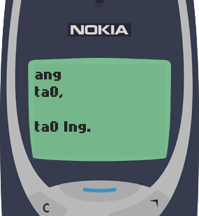 Text Message 22: Dyosa tayo remember? in Nokia 3310