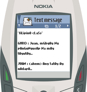 Text Message 28: Tayutay in Nokia 6600