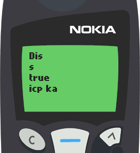 Text Message 30: Isip ka two numbers in Nokia 5110