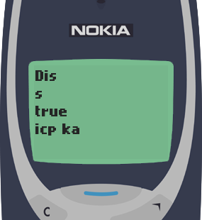 Text Message 30: Isip ka two numbers in Nokia 3310