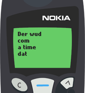 Text Message 36: When we have to stop loving someone in Nokia 5110
