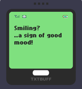 Text Message 45: A sign in TxtBuff 1000