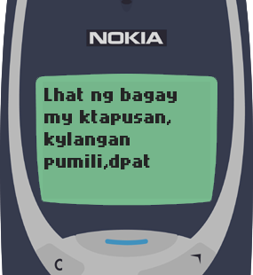 Text Message 62: Kailangan pumili in Nokia 3310