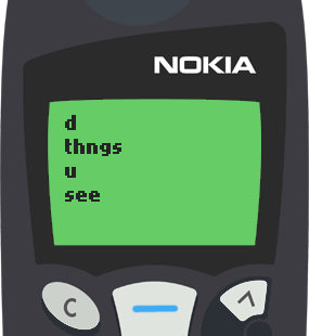Text Message 80: The things you see in Nokia 5110