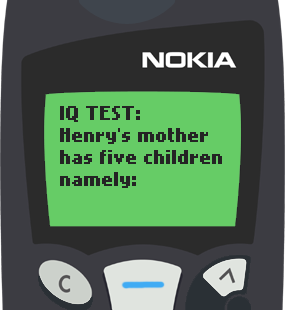 Text Message 1912: Henry's mother in Nokia 5110