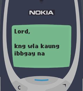 Text Message 2886: Kung walang ka-date ngayong Valentines in Nokia 3310