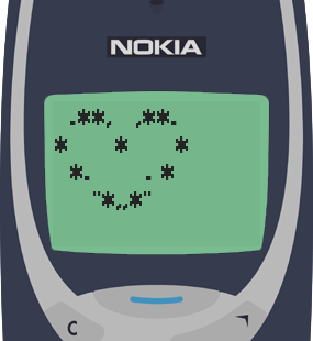 Text Message 2937: Valentines Day heart in Nokia 3310