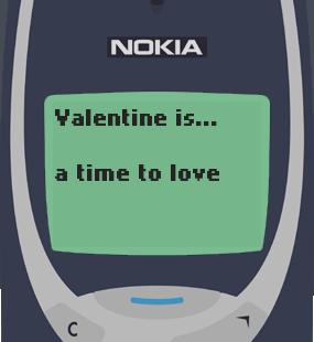 Text Message 2939: Valentine is… in Nokia 3310