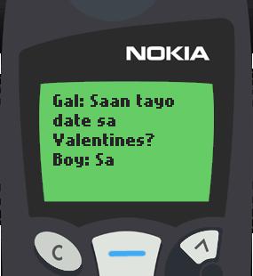 Text Message 9760: Valentines sa sementeryo in Nokia 5110